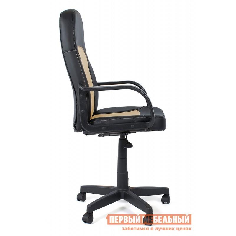 Кресло руководителя  Parma Иск. кожа черный / бежевый, 36-6/36-34 (фото 3)