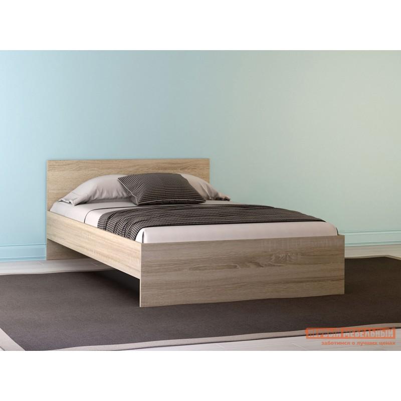 Двуспальная кровать  НИКОЛЬ кровать Дуб Сонома, 1400 Х 2000 мм, С основанием (фото 2)
