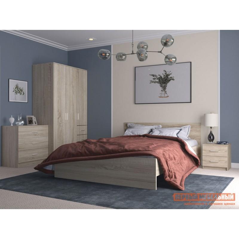 Двуспальная кровать  НИКОЛЬ кровать Дуб Сонома, 1400 Х 2000 мм, С основанием (фото 3)