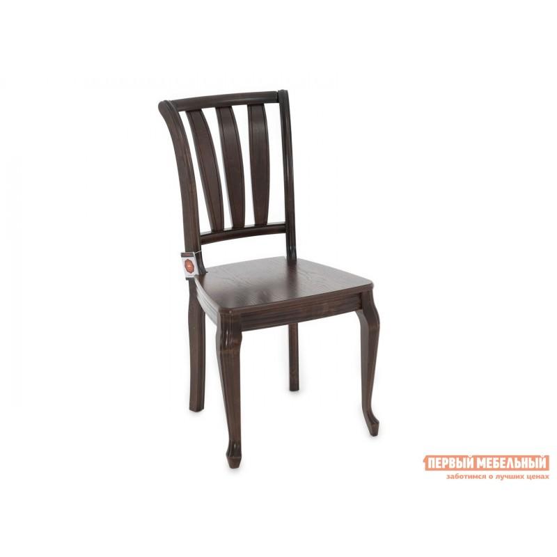 Стул  Стул Кабриоль с жесткой спинкой и сиденьем Темный орех