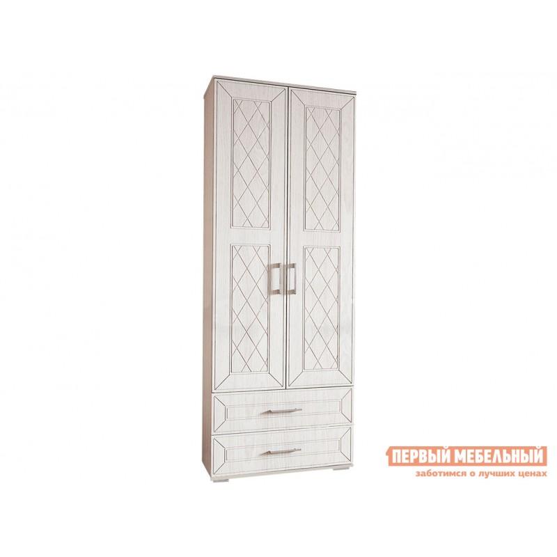 Распашной шкаф  Шкаф 2-х створчатый Британика Дуб атланта / Дуб брашированный, Без карниза