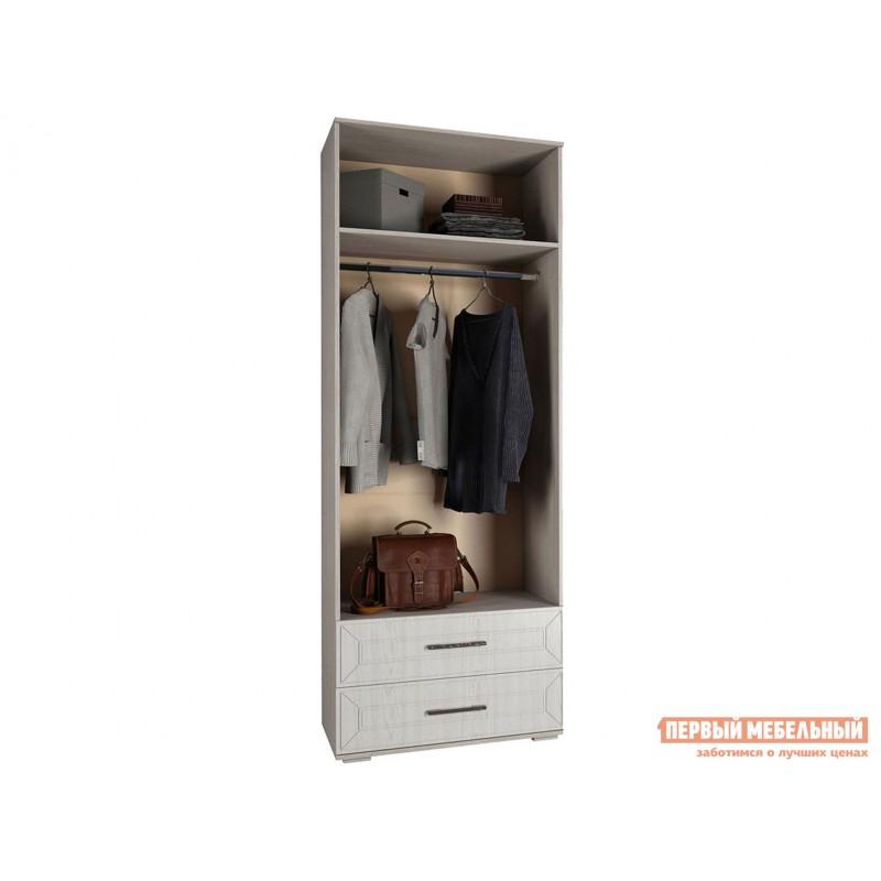 Распашной шкаф  Шкаф 2-х створчатый Британика Дуб атланта / Дуб брашированный, Без карниза (фото 2)
