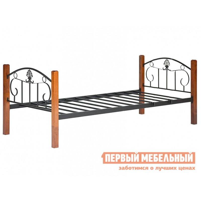 Кровать  10079 Кровать BOLERO двухярусная Красный дуб / Чёрный (фото 3)