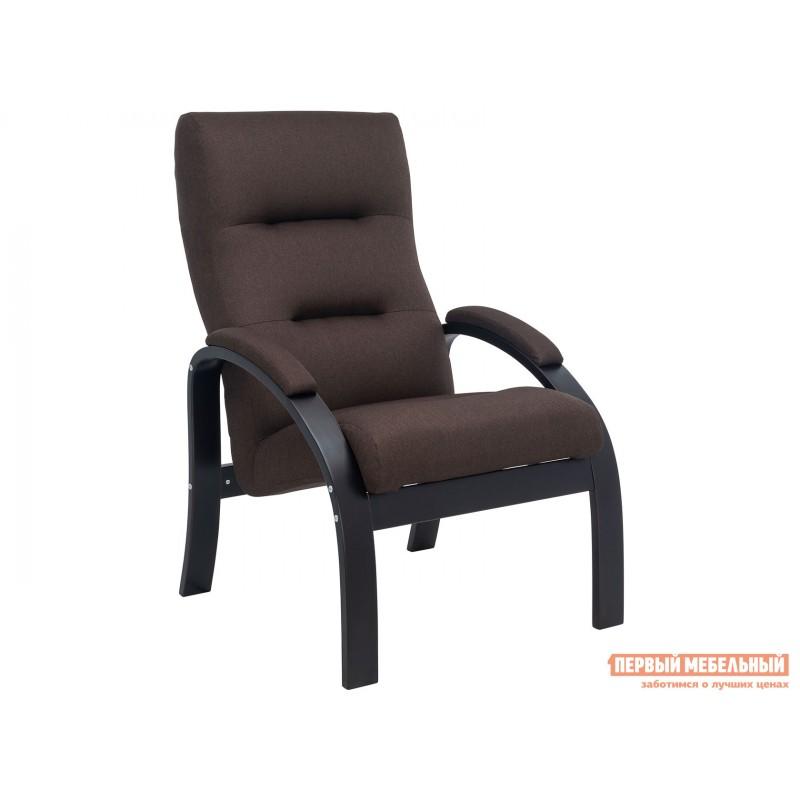 Кресло  Кресло Лион Люкс Черный / Коричневый, жаккард