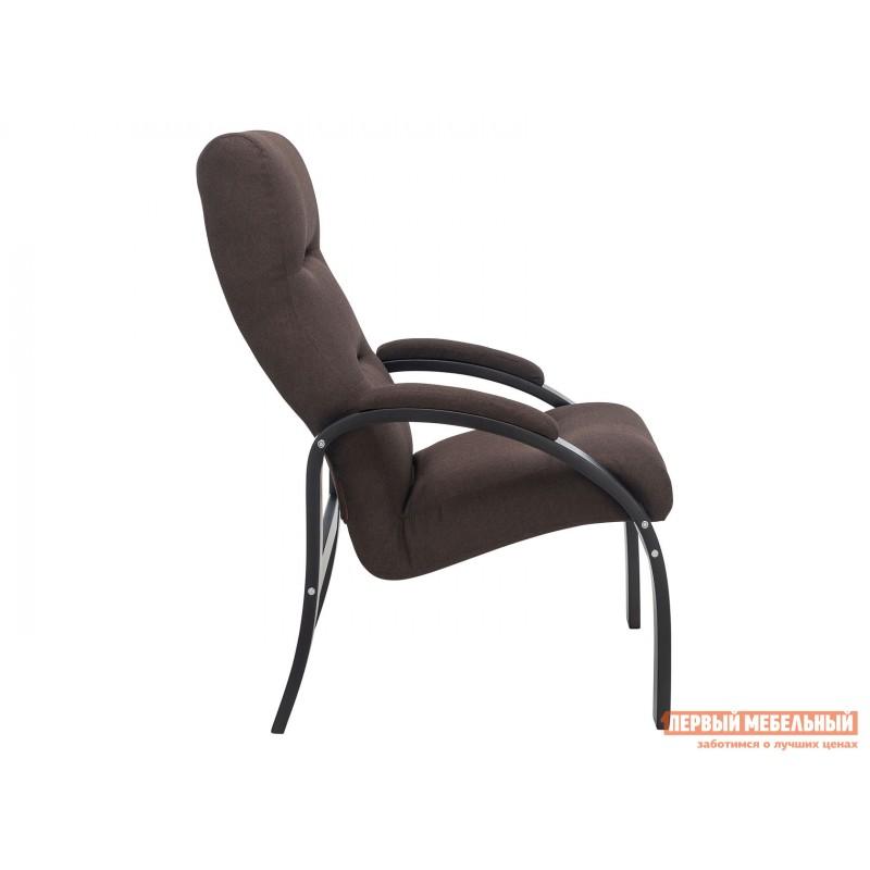 Кресло  Кресло Лион Люкс Черный / Коричневый, жаккард (фото 3)