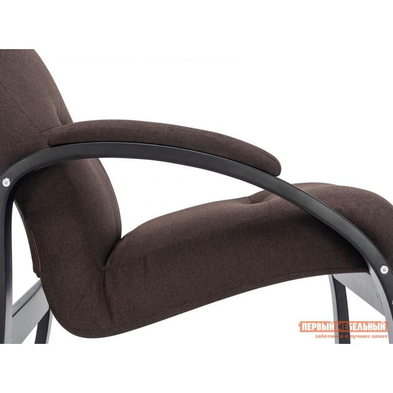Кресло  Кресло Лион Люкс Черный / Коричневый, жаккард (фото 5)