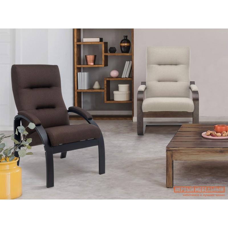 Кресло  Кресло Лион Люкс Черный / Коричневый, жаккард (фото 7)