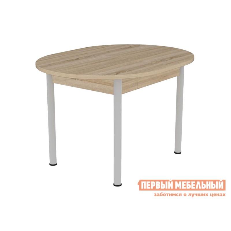 Кухонный стол  Квартет Дуб сонома / Серый, металл