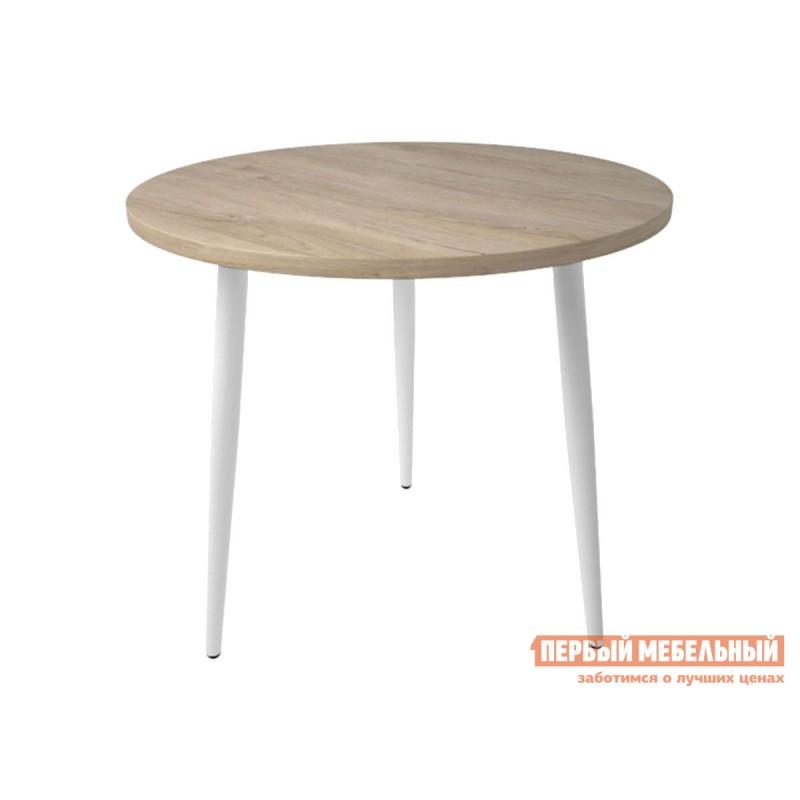 Кухонный стол  Брайт Дуб мадуро / Белый, металл