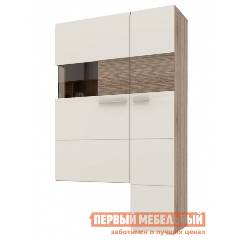 Шкаф-витрина  Витрина Мишель Дуб Сонома трюфель / Латте