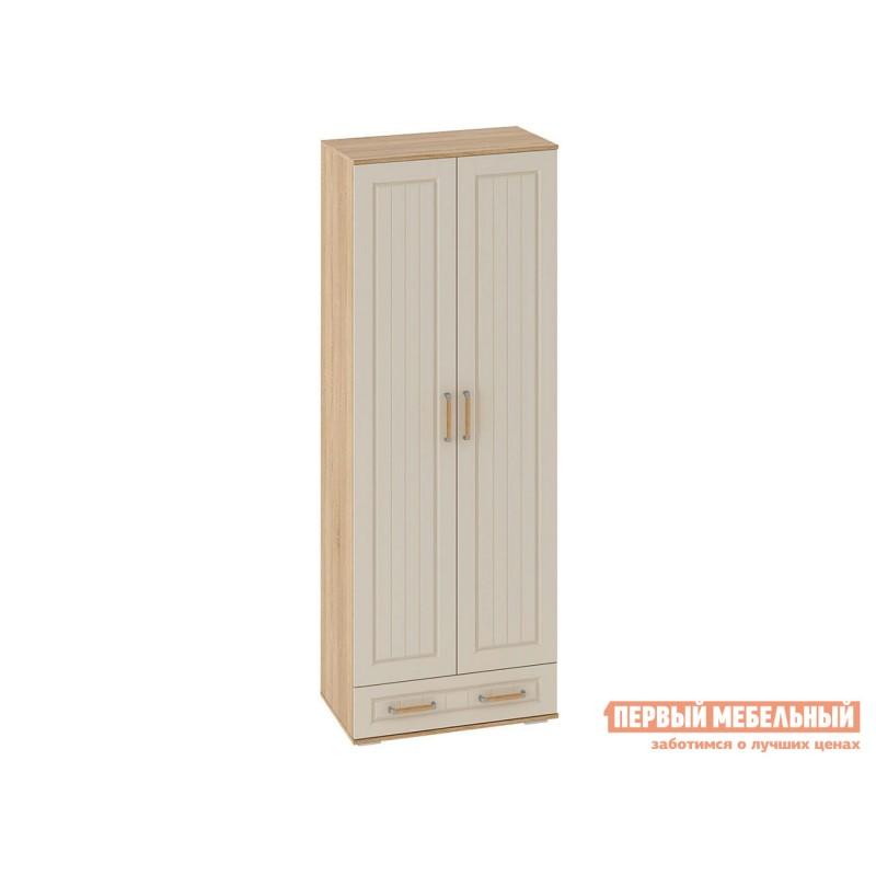 Шкаф распашной  Шкаф 2-х створчатый Маркиза Дуб Сонома / Крем Сатин, Без полок