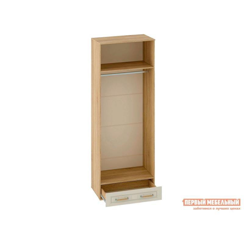 Шкаф распашной  Шкаф 2-х створчатый Маркиза Дуб Сонома / Крем Сатин, Без полок (фото 2)