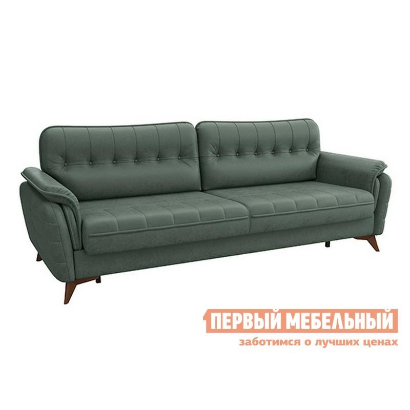 Прямой диван  Дорис диван-кровать Зеленый, иск. замша