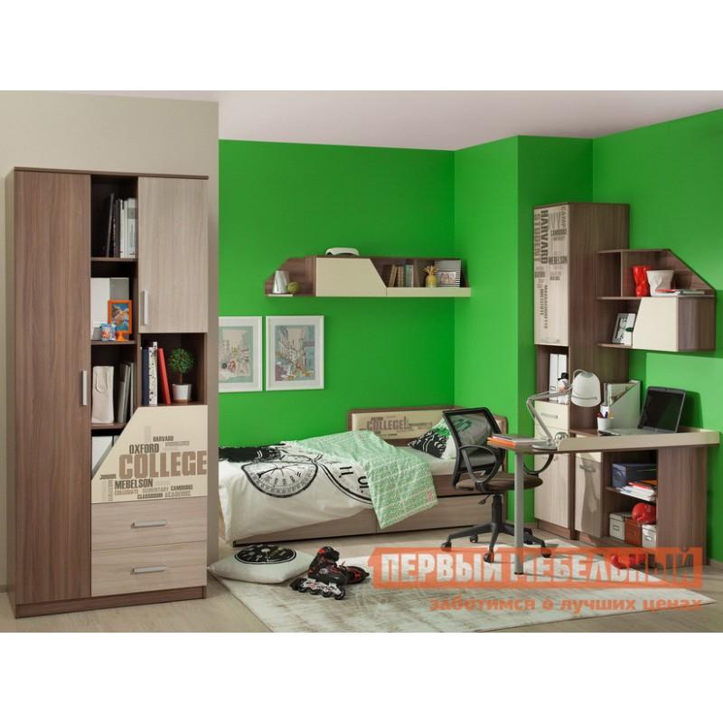 Комплект детской мебели  Колледж К1 Ясень Шимо темный / Ясень Шимо светлый, Крем