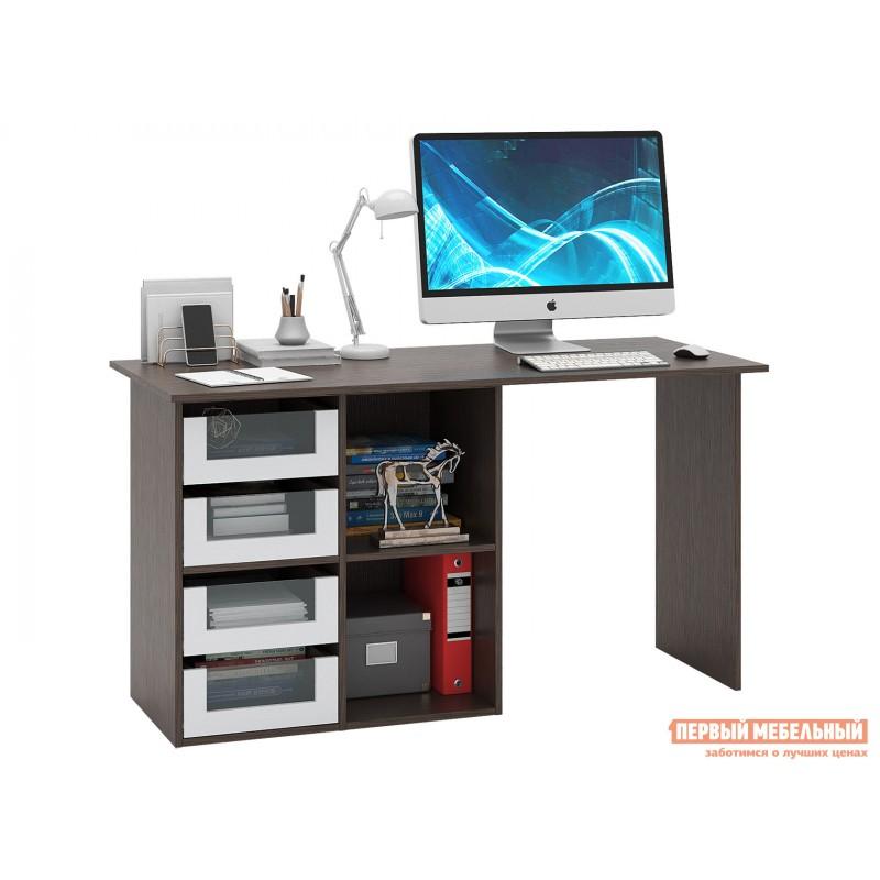 Письменный стол  Прайм-68 Венге / Белый
