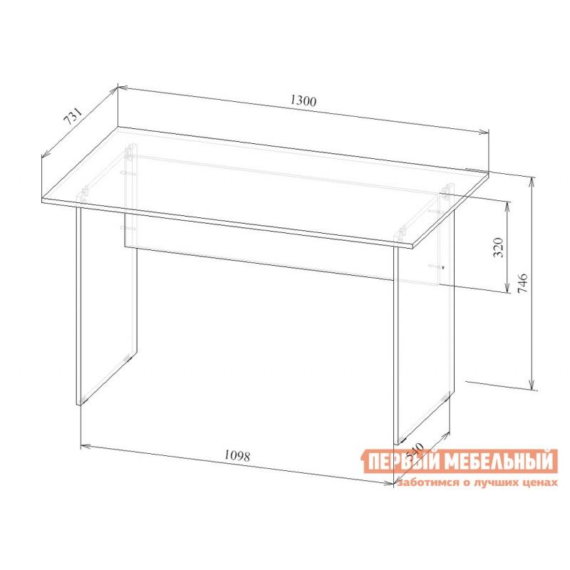 Письменный стол  Прато-2 Белый (фото 2)