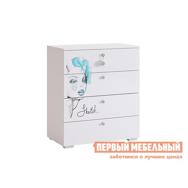 Комплект детской мебели  Гламур Белый / Белый глянец (фото 6)