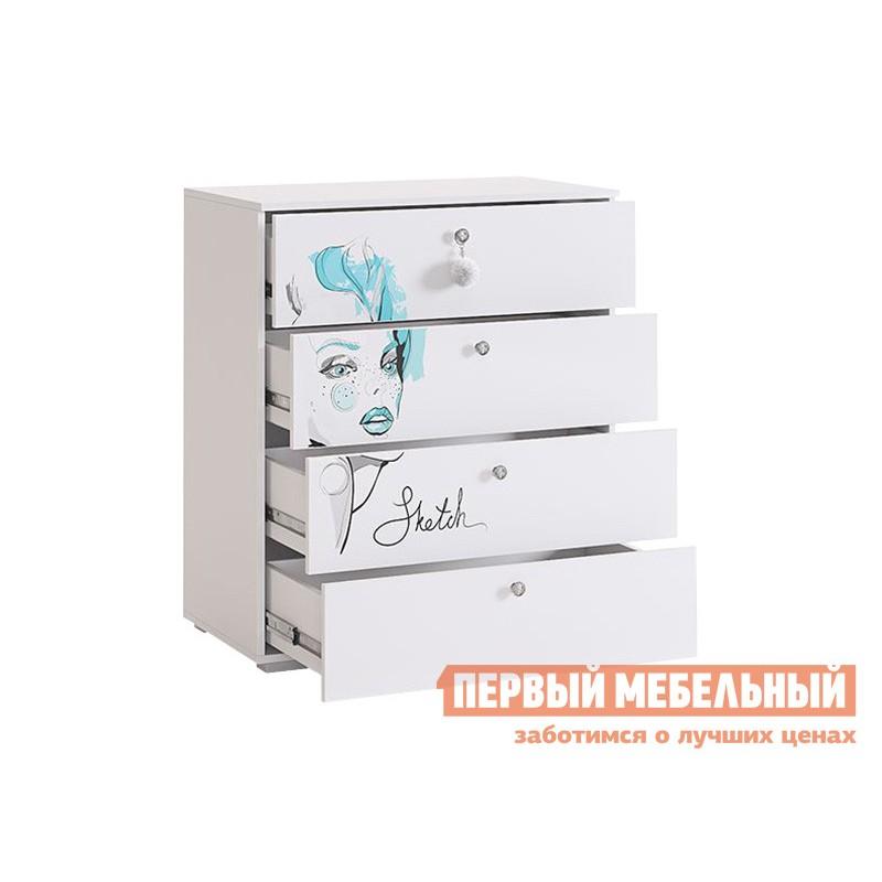 Комплект детской мебели  Гламур Белый / Белый глянец (фото 7)