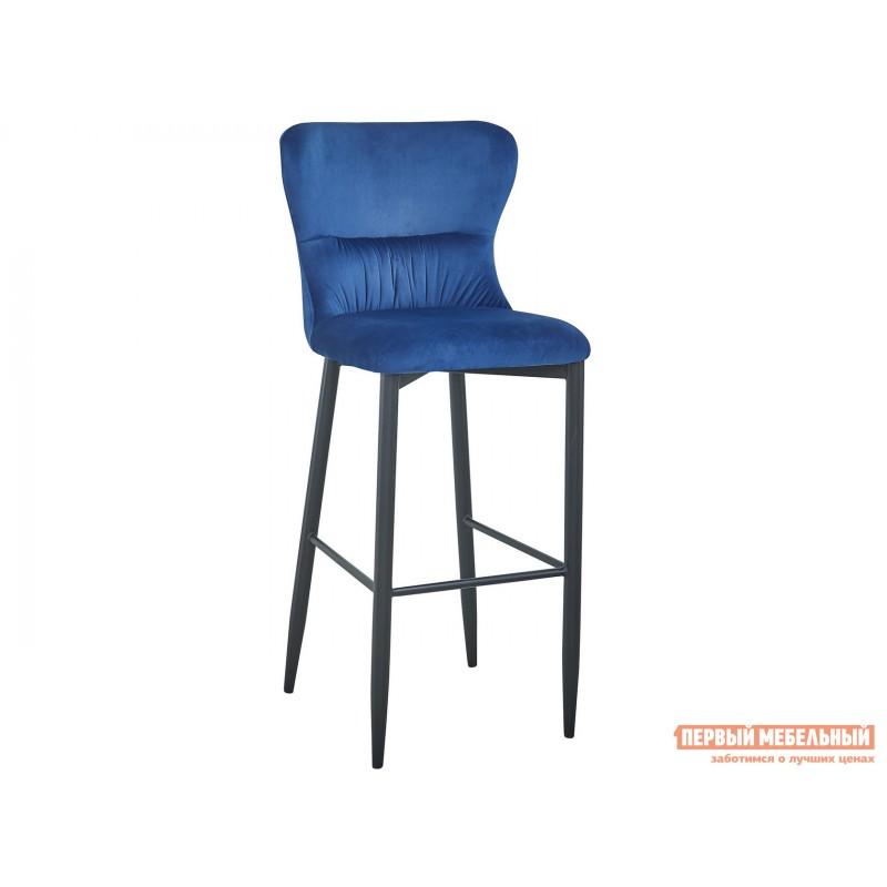 Барный стул  Стул полубарный Лилиан MC151C VELVET HLR-64 Темно-синий, велюр, Барный