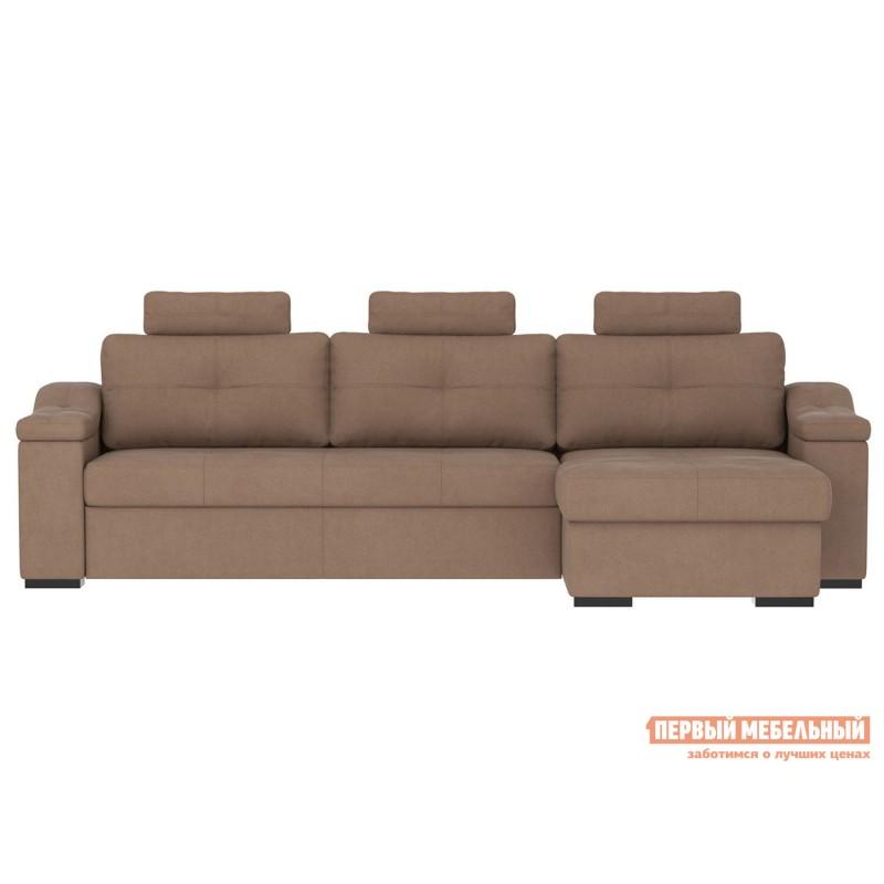 Угловой диван  Триумф с оттоманкой Мустанг, иск. замша (фото 2)