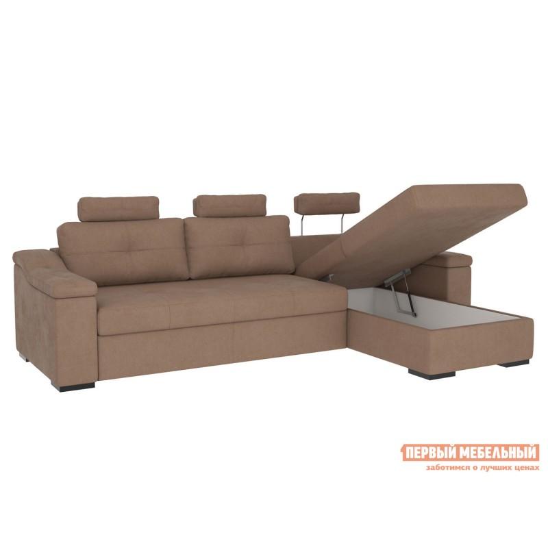 Угловой диван  Триумф с оттоманкой Мустанг, иск. замша (фото 3)
