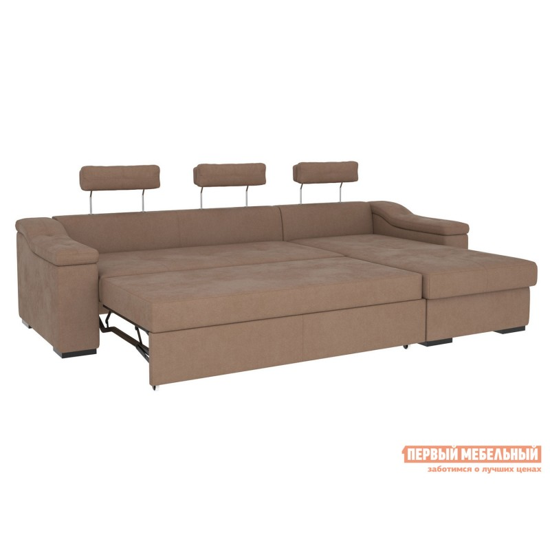 Угловой диван  Триумф с оттоманкой Мустанг, иск. замша (фото 4)