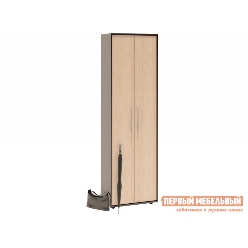 Распашной шкаф  ШО-1 Корпус Венге / Фасад Беленый дуб