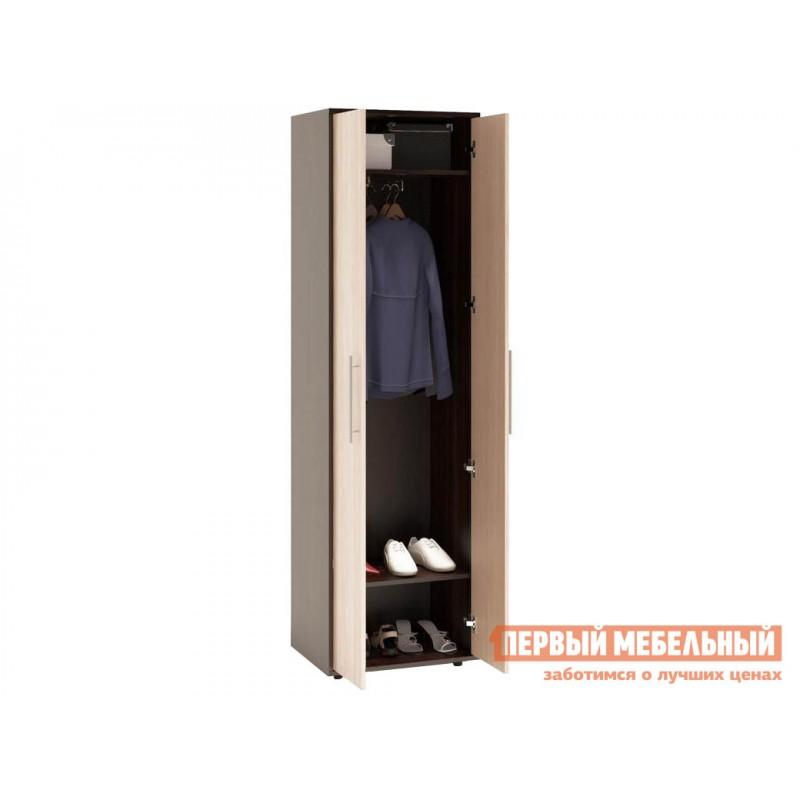 Распашной шкаф  ШО-1 Корпус Венге / Фасад Беленый дуб (фото 2)