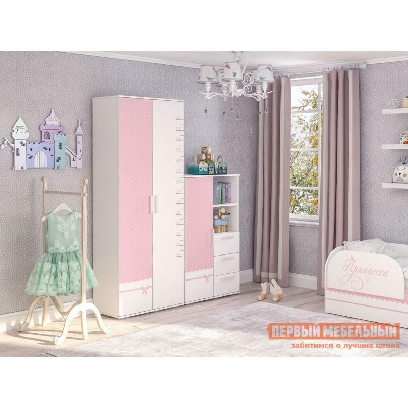 Шкаф детский  Трио Шкаф многофункциональный ШК-10 Белый, принцесса (фото 3)