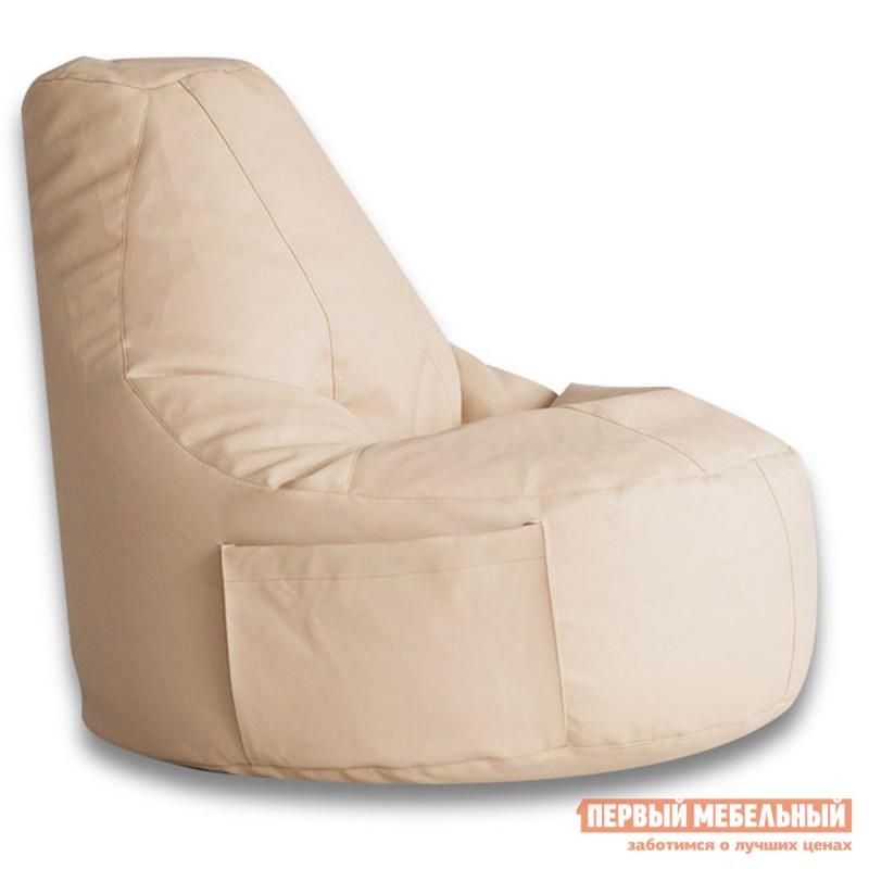 Кресло-мешок  Кресло-мешок Конфетти Кремовая экокожа