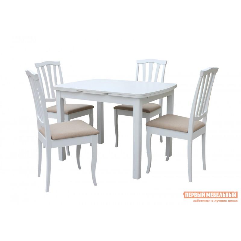Обеденная группа для столовой и гостиной  Орлеан Сити Белый матовый / Белый