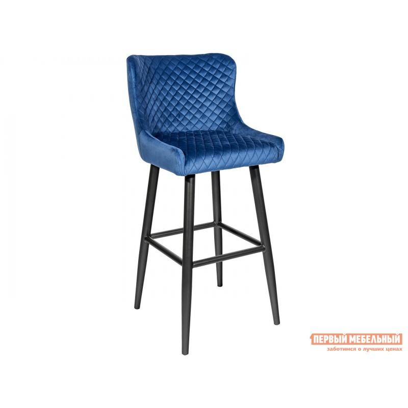 Барный стул  MC15B HLR-65 Королевский синий, велюр