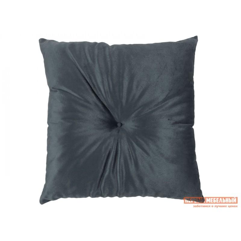 Декоративная подушка  Подушка 40х40 см, с имитац.пуговиц, SM Серый