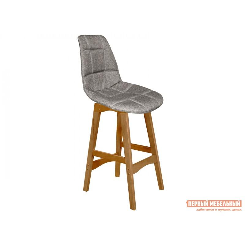 Барный стул  Sheffilton SHT-ST29-С/S65-1 Пепельный, рогожка / Светлый орех, массив бука