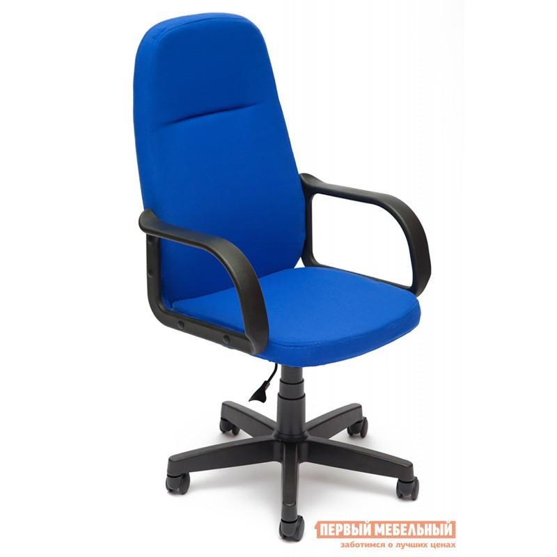 Кресло руководителя  Leader Ткань синяя