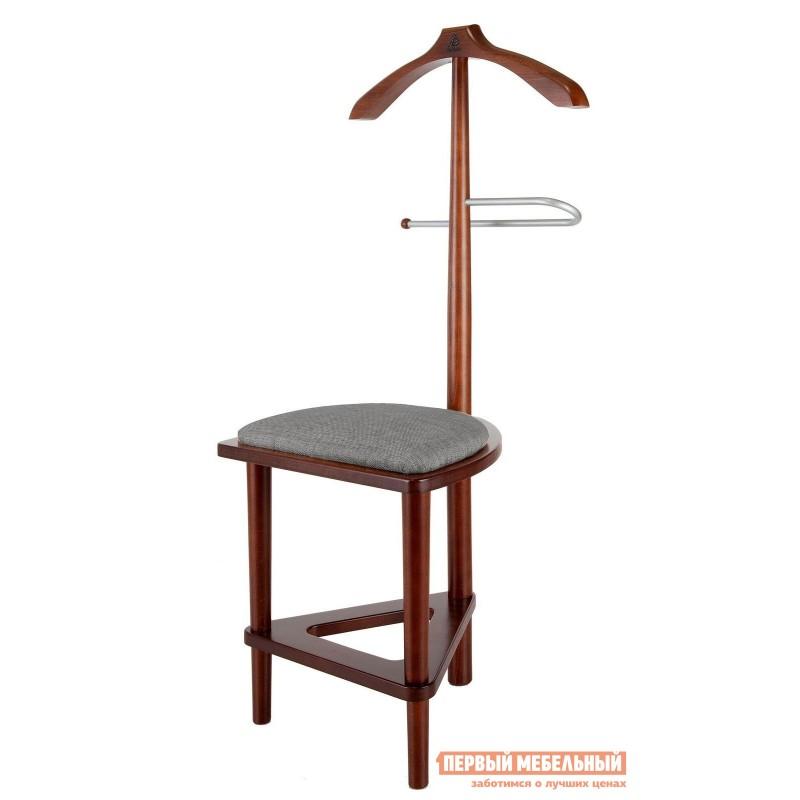 Напольная вешалка  Вешалка костюмная с сиденьем В 26Н Средне-коричневый