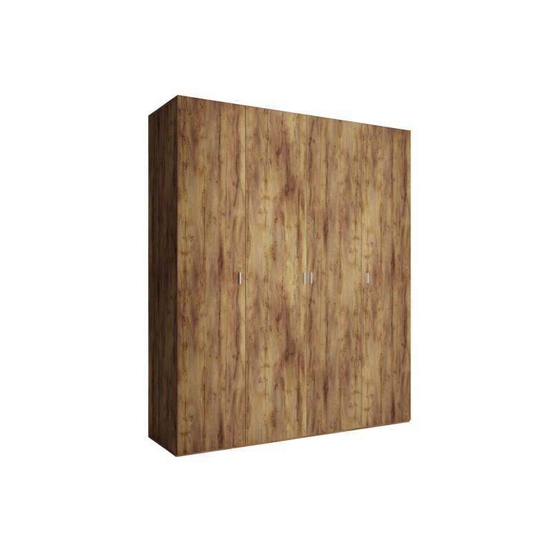 Шкаф распашной  Шкаф 4-х дверный Вега Бавария Таксония медовая, Без зеркала, Без топа-накладки