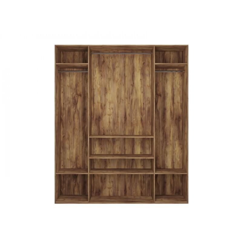 Шкаф распашной  Шкаф 4-х дверный Вега Бавария Таксония медовая, Без зеркала, Без топа-накладки (фото 4)