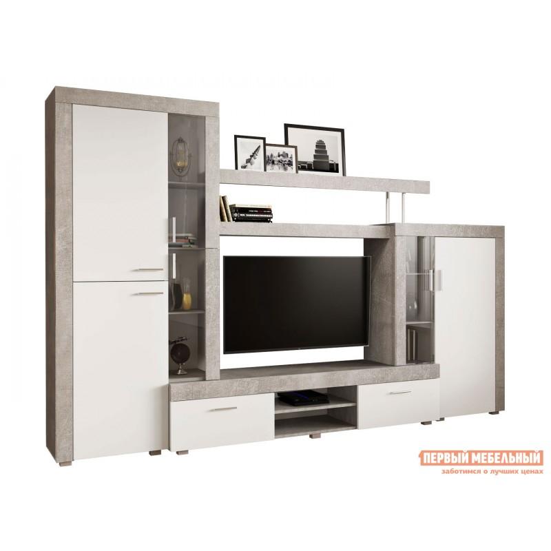 Гостиная  71020123 МОНТАНА гостиная СТ-1 МДФ Atelier светлый / Белый глянец (фото 2)