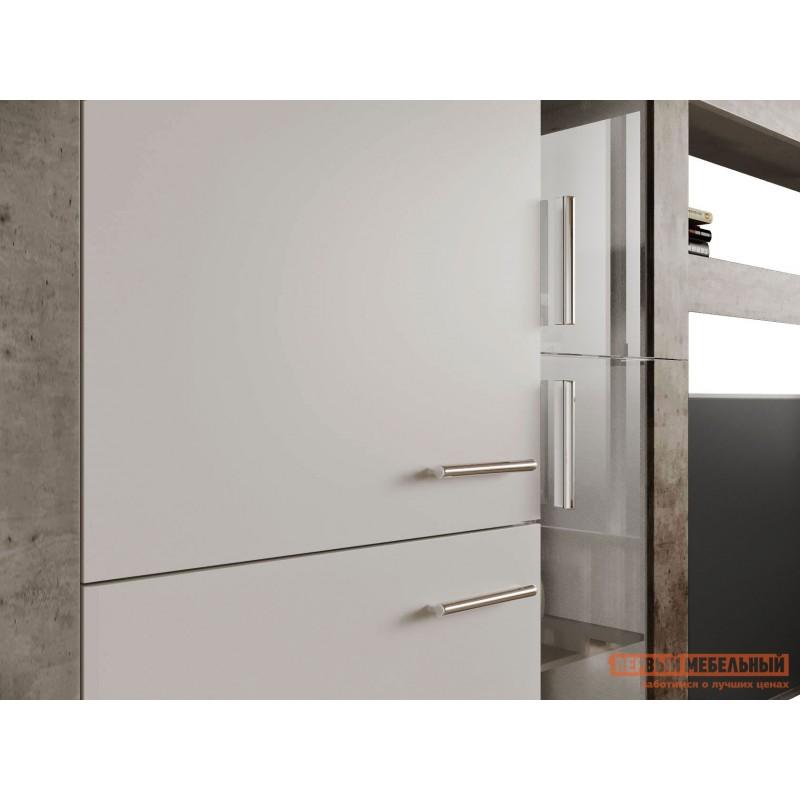 Гостиная  71020123 МОНТАНА гостиная СТ-1 МДФ Atelier светлый / Белый глянец (фото 4)