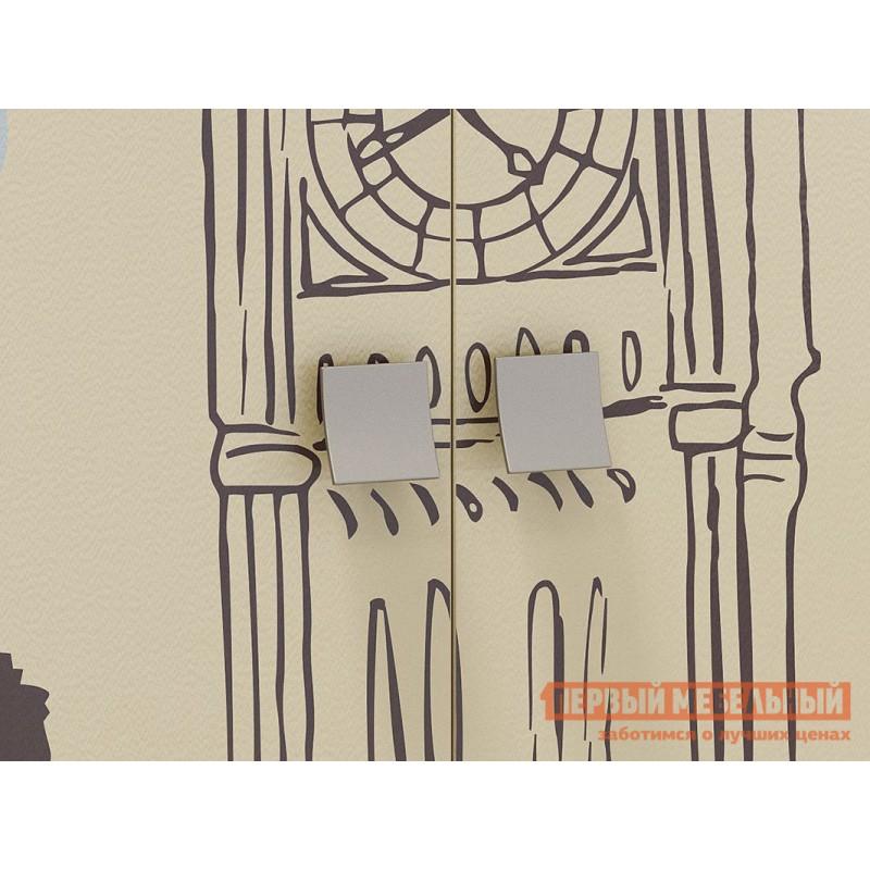 Детский шкаф  Челси Шкаф комбинированный (с ящ. 2-створчатый) Ясень Шимо темный / Крем (фото 4)