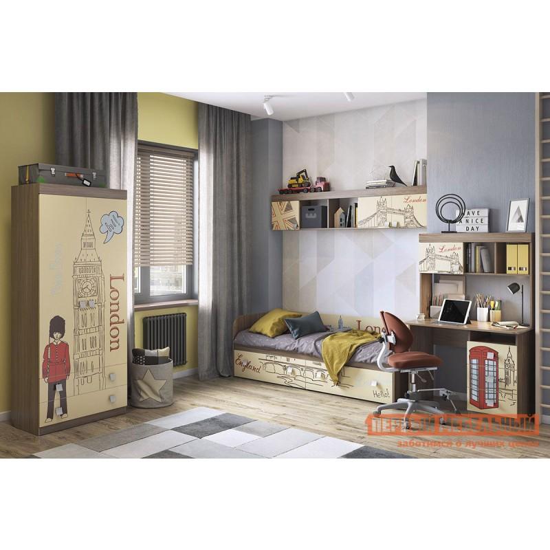 Детский шкаф  Челси Шкаф комбинированный (с ящ. 2-створчатый) Ясень Шимо темный / Крем (фото 6)