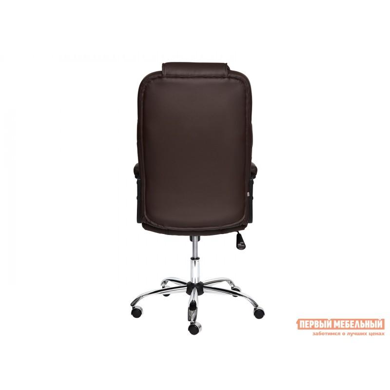 Кресло руководителя  BERGAMO CHROME Иск.кожа коричневая PU 36-36 (фото 4)