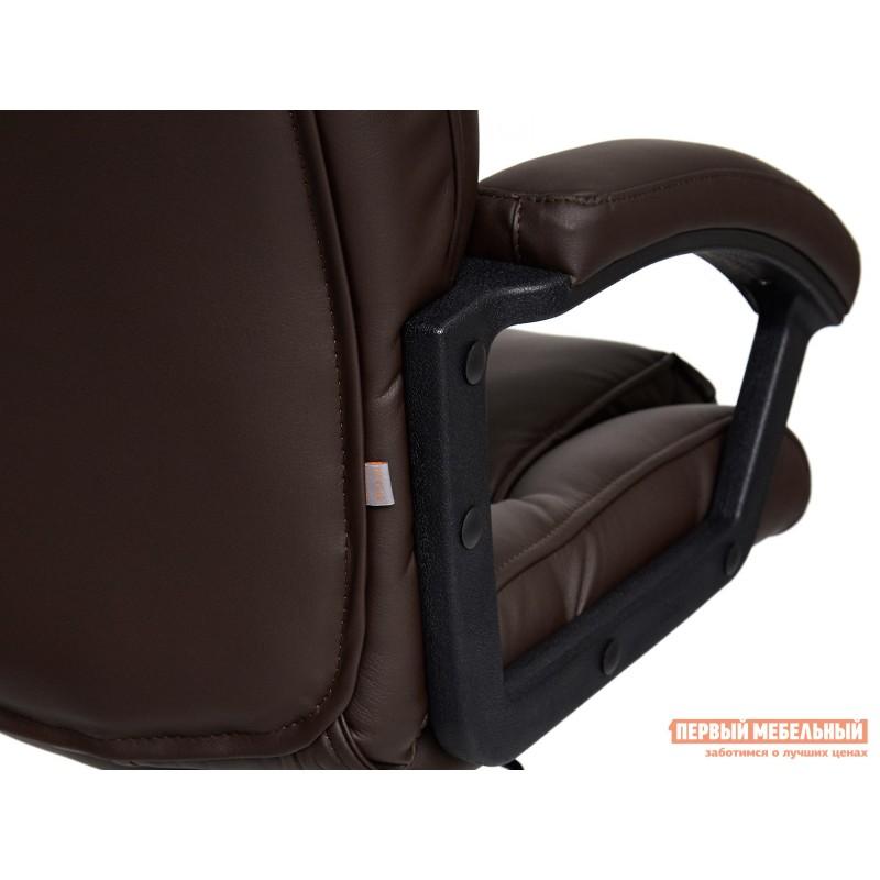 Кресло руководителя  BERGAMO CHROME Иск.кожа коричневая PU 36-36 (фото 5)