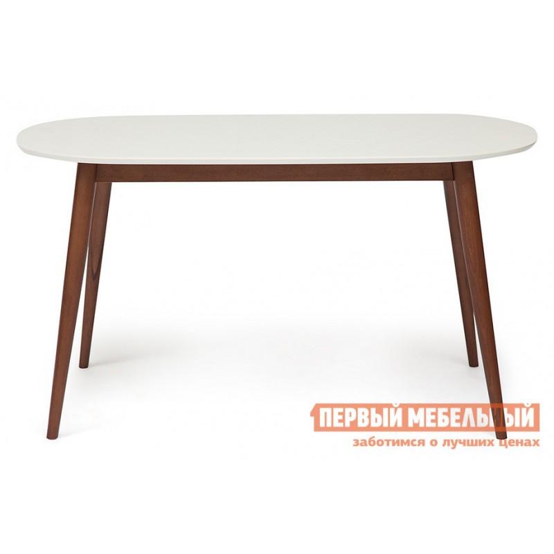 Кухонный стол  Стол обеденный MAX (Макс) Бук коричневый / Белый (фото 2)