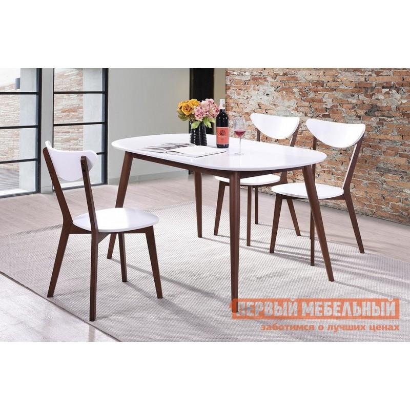 Кухонный стол  Стол обеденный MAX (Макс) Бук коричневый / Белый (фото 3)