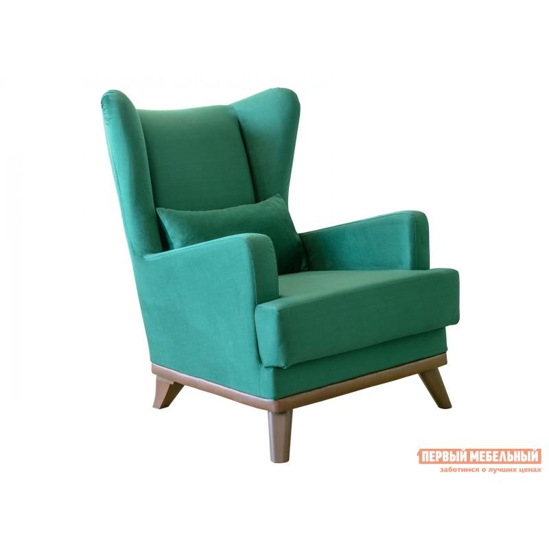 Кресло  Оскар Темно-зеленый, велюр