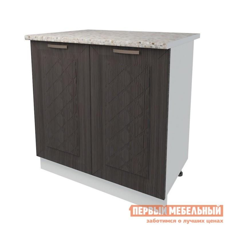 Кухонный модуль  Стол 2 двери 80 см Агава Лиственница темная