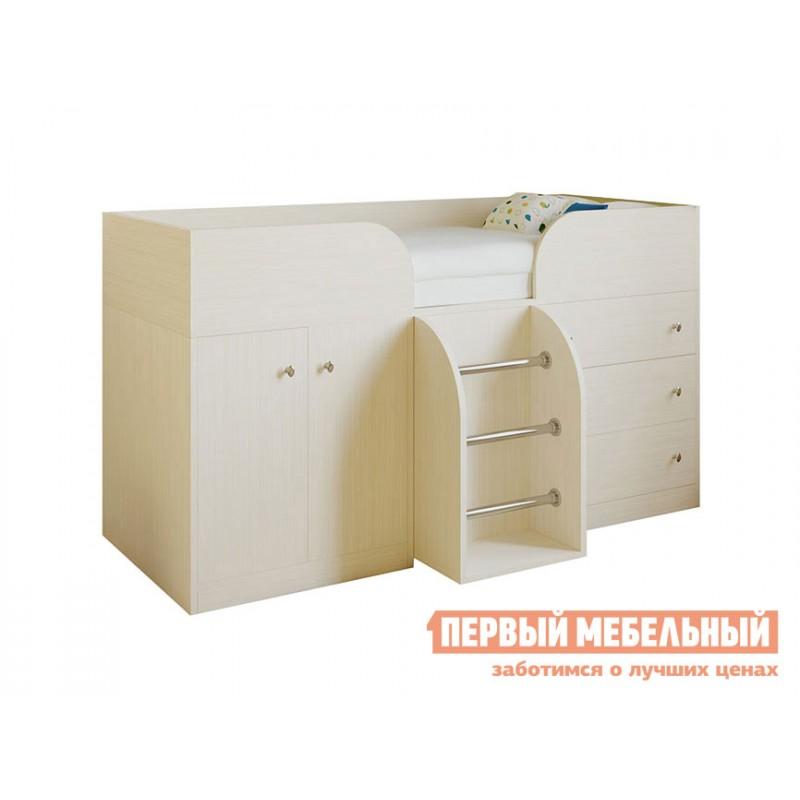 Кровать-чердак  Кровать-чердак Астра-5 Дуб Молочный