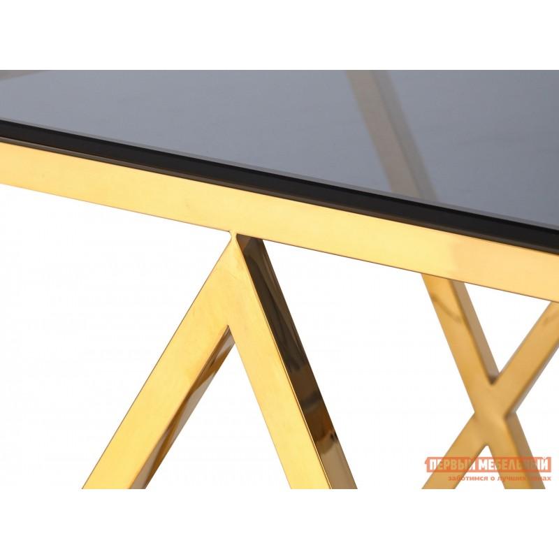 Журнальный столик  Инсигния EET-026 Темное стекло / Сталь, золото (фото 4)